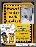 Pocket Folder Math Centers- Double Digit Addition with Par