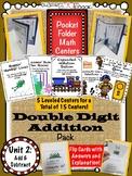Pocket Folder Math Centers- Double Addition Bundle Pack