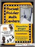 Pocket Folder Math Centers- Double Digit Addition with Hun