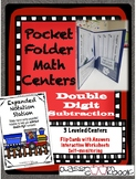 Pocket Folder Math Centers- Double Digit Subtraction with Expanded Notation