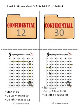 Pocket Folder Math Centers- Double Digit Subtraction with Hundred's Chart