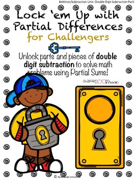 Pocket Folder Math Centers- Double Digit Subtraction with Partial Differences