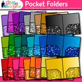 Pocket Folder Clip Art: School Supply Graphics {Glitter Meets Glue}