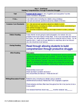 Pocket Full of Colors by Amy Guglielmo Lesson Plan and Activities