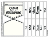 Pocket Full of Pronouns Activity Printable