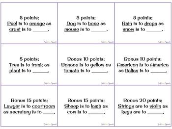 Pocket Game - Analogies - Potpourri