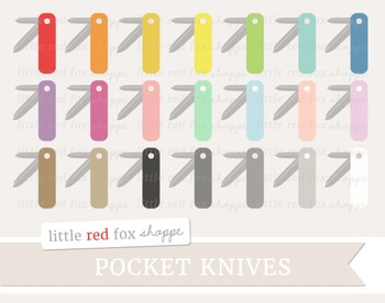 Pocket Knife Clipart; Camping, Tool