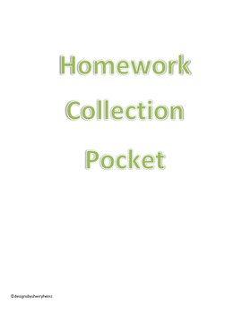 Pocket Labels & Logs for Organizing Classroom Paperwork