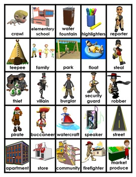 Pocket Picture Vocabulary Flash Cards 601-700
