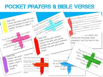 Pocket Prayer Cards & Bible Verses