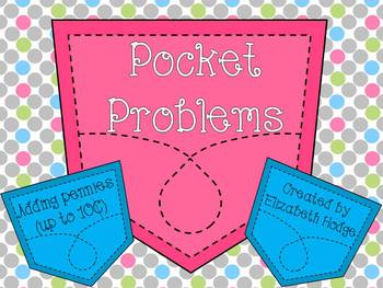 Pocket Problems- Adding Pennies (Up To 10 cents)