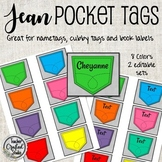 Pocket Tags for Cubbies, Name Tags and Coat Hooks