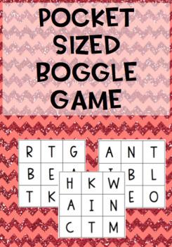 Pocket sized Boggle Spelling activity {40 games!}