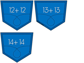 Pocketful of Addition- An Addition Problem Matching Game