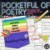 POETRY TERMS, HAIKU, ACROSTIC, CINQUAIN, LYRICS POCKET FLIP BOOK