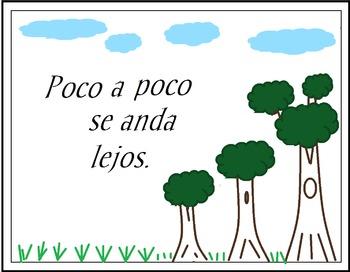 """""""Poco a Poco Se Anda Lejos"""" Poster"""