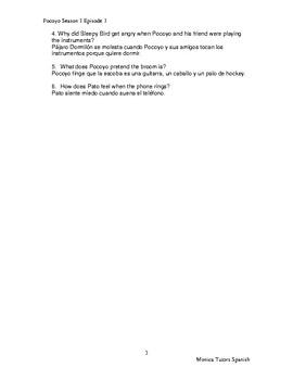 Pocoyo S1 E1 - Netflix study guide