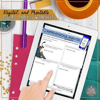 Podcast Analysis Worksheets, Digital and Traditional BUNDLE