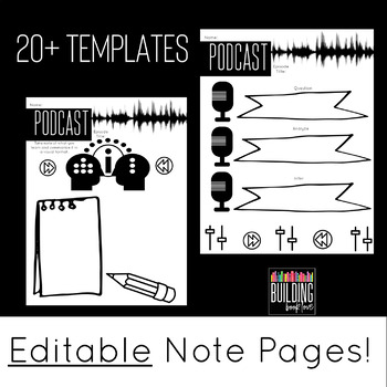 Podcast Coloring Notes: Activities for ANY Podcast