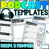 Podcast Graphic Organizer Templates - Distance Learning