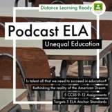 Podcast Lesson Unequal Education Gladwell 5 Assignments CCSS Distance Learning