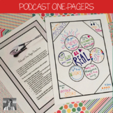 One-Pager Activity for Any Podcast (Distance Learning)
