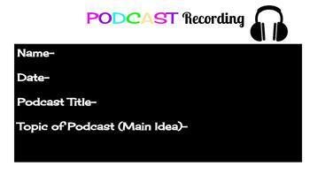 Podcast Recording Slides