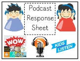 Podcast Reflection Sheets - Listening Station
