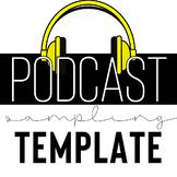 Podcast Sampling Template: Host a podcast tasting for podc