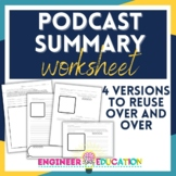 *HALF OFF* Podcast Summary Worksheet: Learning Extension f