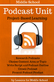 Podcasting – Create Your Own Podcast -  Project Based Learning Unit