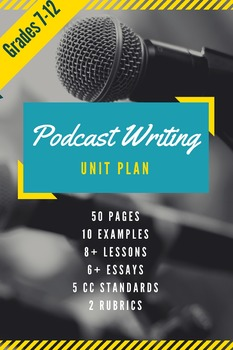Podcast Writing Unit for Any Technology- Improve Writing Authentically