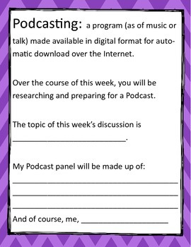 Podcasting: A Packet for Elementary Podcasters