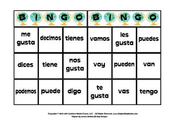 Poder Spanish Verb MagnetMat Fun