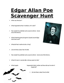 Poe Online Scavenger Hunt
