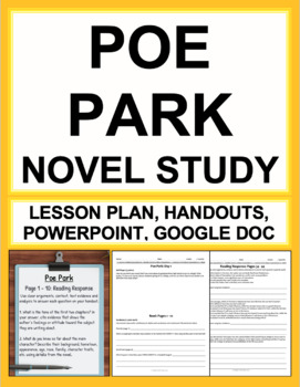 Poe Park Novel Study Lessons & Student Packet