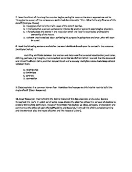 Poe Usher Common Core FSA Style Assessment