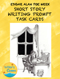Writing Fluency: Poe Writing Prompt Task Cards, Narrative Writing, Rubric, Sub
