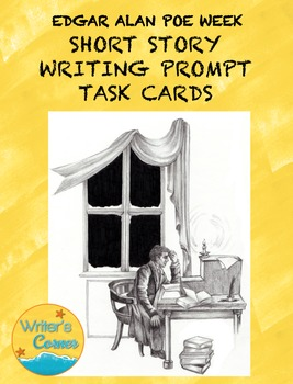 Writing Fluency: Poe Writing Prompt Task Cards, Narrative