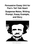 Poe's Tell Tale Heart: Suspense Notes, Persuasive Essay Prompt and Example