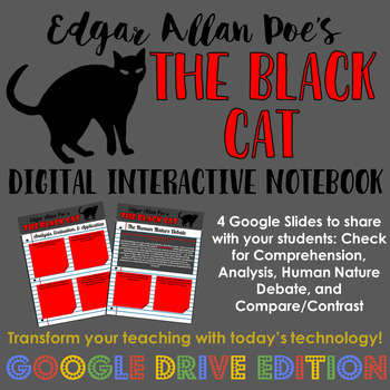 Poe's The Black Cat: Digital Interactive Notebook for Google Drive