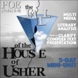 "BUNDLE Poe's ""The Fall of the House of Usher"" 5-Day Mini-Unit"