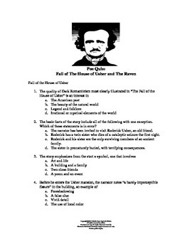 Poe' s The Fall of the House of Usher and The Raven Quiz
