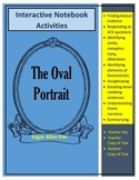 "Poe's ""The Oval"" Portrait Text and Interactive Notebook Ac"