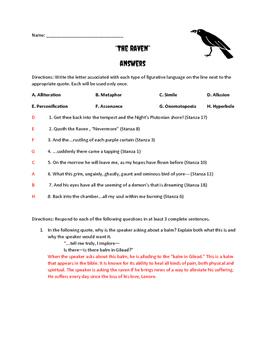 """Poe's """"The Raven"""" Quiz"""