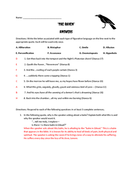 "Poe's ""The Raven"" Quiz"