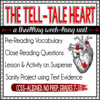 Poe's The Tell-Tale Heart Unit Plan: lessons, activities, and more!