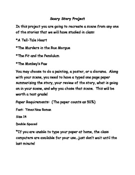Poe/Scary Story Project