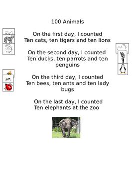 Poem: 100 Animals