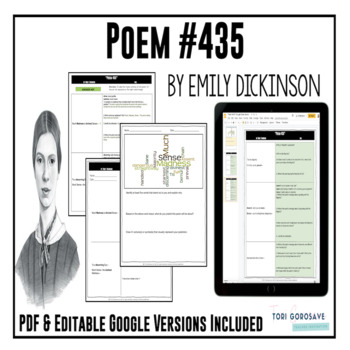 """Poetry Lesson:""""Poem 435"""" (Much Madness...) by Dickinson {Google Resource}"""